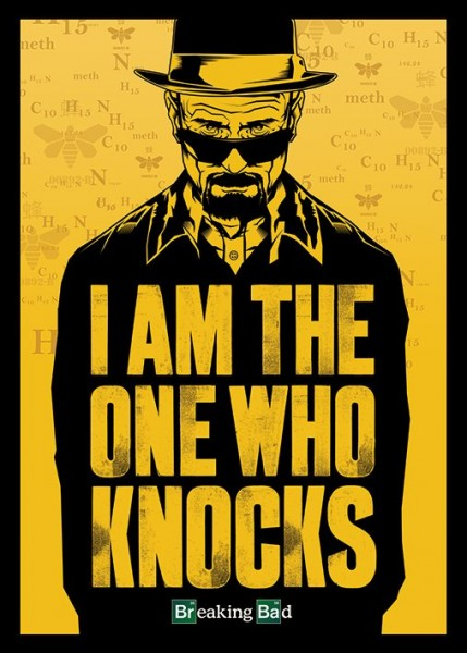 plakat z serialu breaking bad
