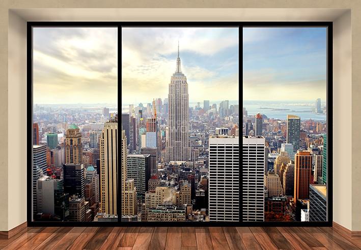 Manhattan New York Window Fototapeta Olly Galeria FLASH