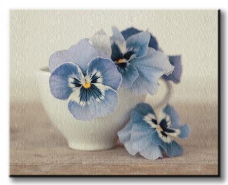 Obraz na płótnie z kwiatami