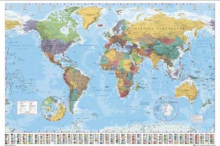 Mapa Swiata na Sciane Mapa Świata na Ścianę